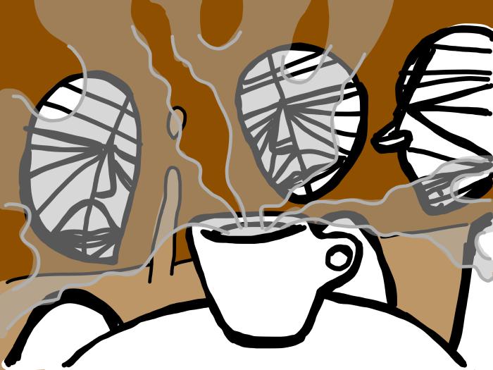 Trinity Enjoying a Coffee