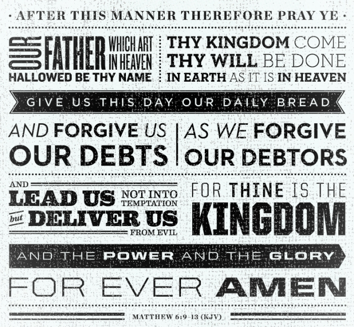 lords prayer white small